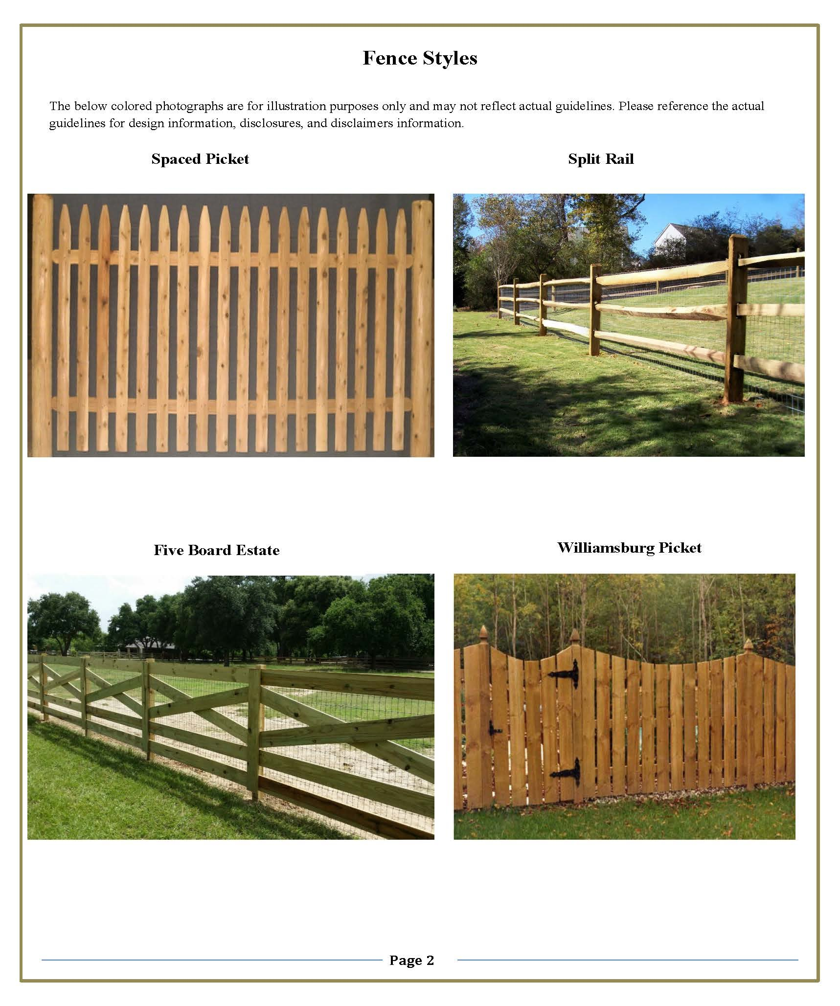 Approved Fence Style 2