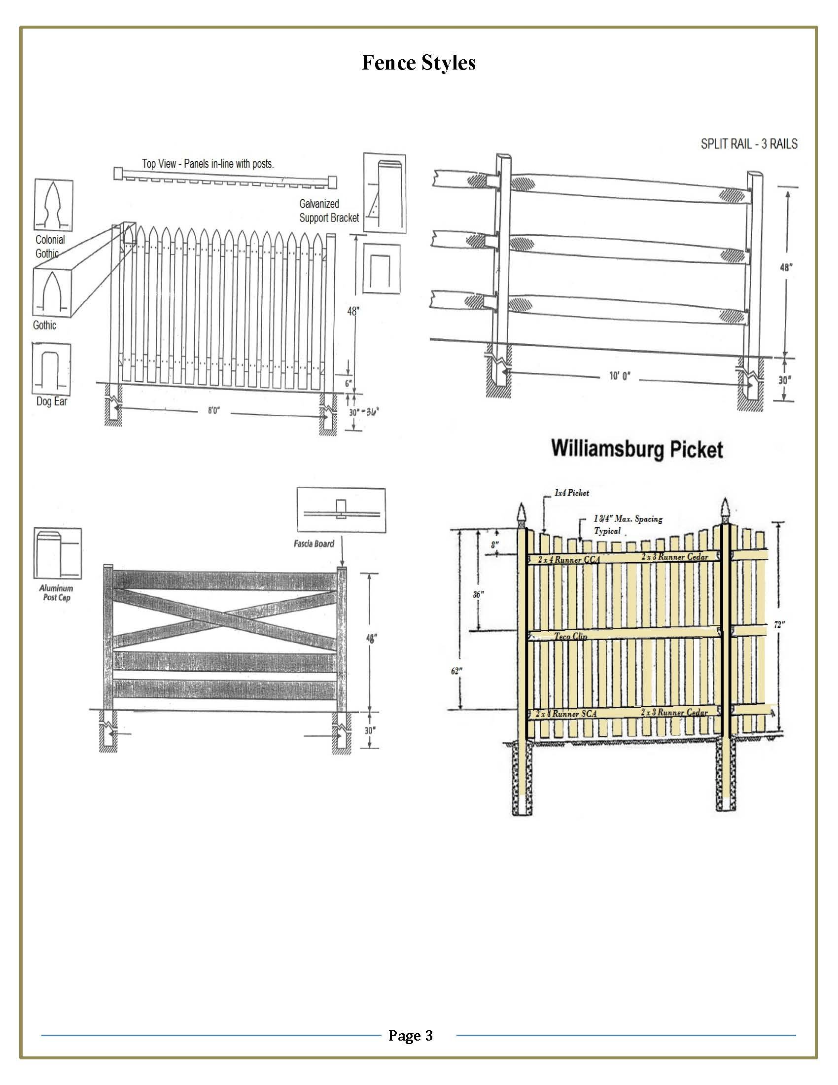 Approved Fence Style 3