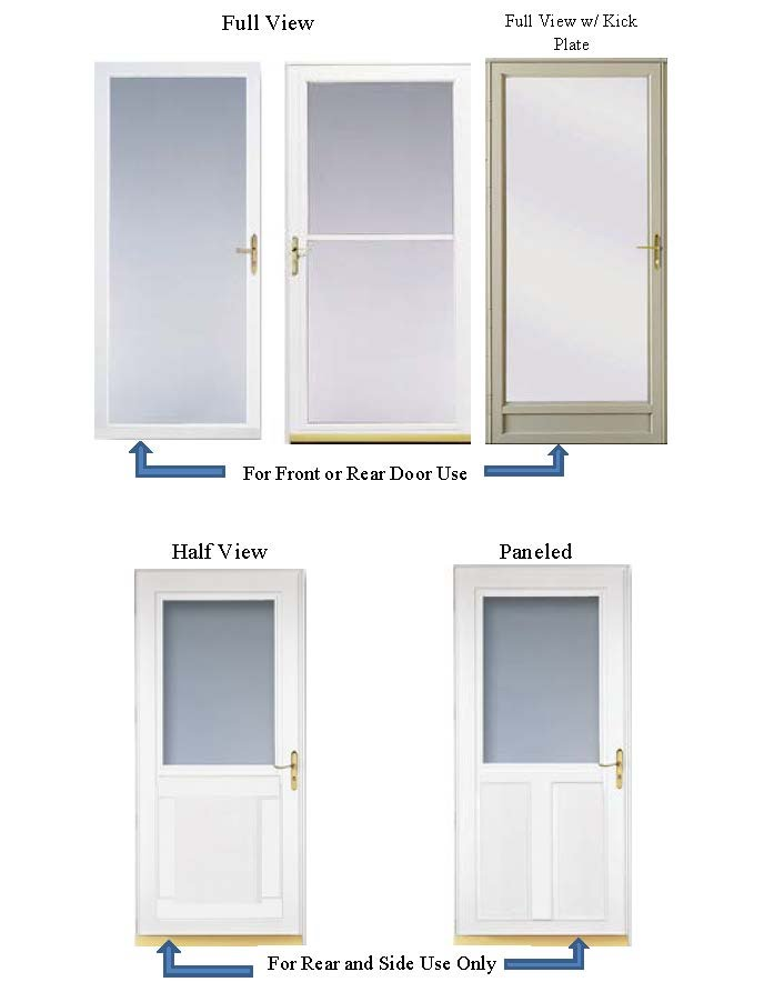 Storm Door Styles Full Color